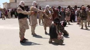 ISIS in a mass execution of prisoners