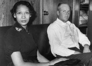 Interracial married couple Mildred and Richard Loving