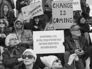 "Signs about ""Change is coming"" and the November 6, 2018 mid-term election"