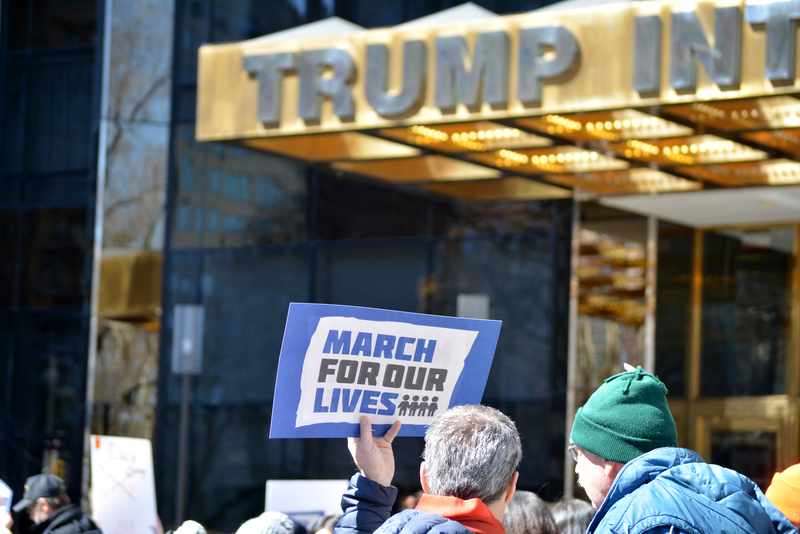 March for Our Lives in front of Trump Tower