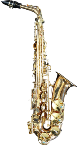 Picture of an alto saxophone