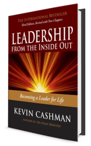 PHoto of the cover of Kevin Cashman's book Leadership from the Inside Out