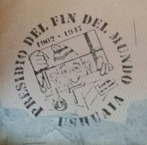 Photo of the Ushuaia prison passport stamp