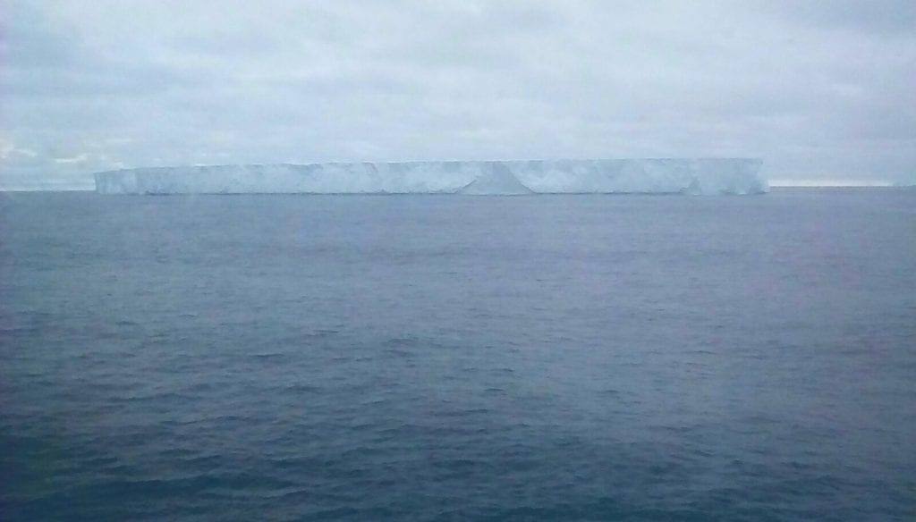 Photo of a tabular iceberg