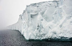 Photo of a massive tabular iceberg
