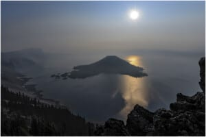 Photo of Crater Lake, Oregon, at morning
