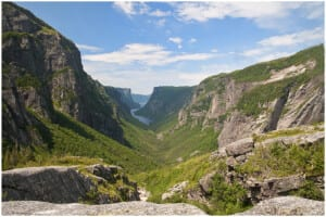 Photo of Western Brook Pond Gorge in Newfoundland