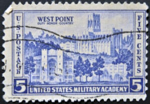 Postage stamp depicting West Point