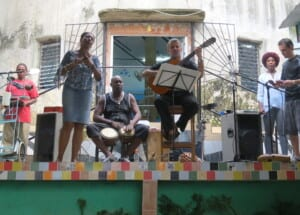 Photo of a neighborhood band in Havana