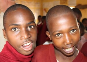 Photo of two Tanzanian schoolboys