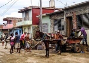 Photo of traditional house building in Havana, Cuba
