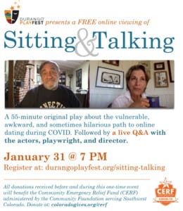 Promotional ad for Sitting and Talking