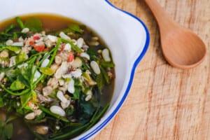 photo of Gaeng Kai Mot Daeng, or ant egg soup