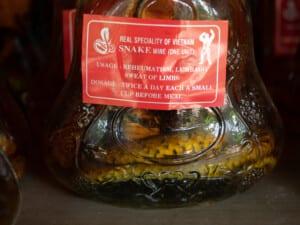 photo of Vietnamese snake wine